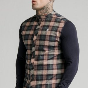 siksilk-l-s-flannel-check-grandad-shirt-navy-tan-p18160-92831_image