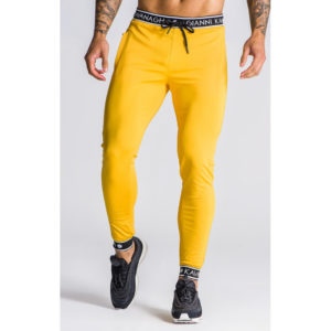 panske-zlute-teplaky-gianni-kavanagh-yellow-with-gk-elastic-joggers
