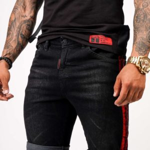 red-jeans-shorts-black